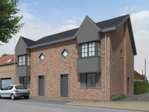 Toekomstig project gelegen op de hoek van de Torhoutstraat met de Essestraat bestaande uit twee woningen voorzien van twee bouwlagen en dak. Ontwerppl