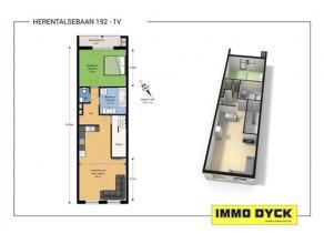 Volledig gerenoveerd en instapklaar appartement op de 1e verdieping van een klein gebouw, centraal gelegen te Deurne-Zuid. Het appartement omvat een i