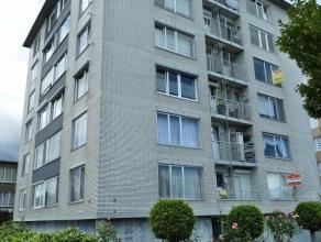 Ideaal om te verhuren! Licht op te frissen appartement met twee slaapkamers aan groene zone. Ingerichte keuken met toestellen, klein terras, badkamer