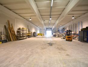 Instapklare OPSLAGRUIMTE (958m²) met ruime verharde buitenruimte (voor buitenopslag of voor private parkings). Grondopp.: 1.361,76m2. INDELING:op