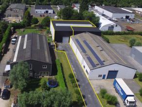 MAGAZIJN (+/-500m²) op ambachtelijke zone Blauwe Toren te Brugge. AFWERKING: Metalen constructie - betonnen wanden, sandwichpanelen- steeldeck ge