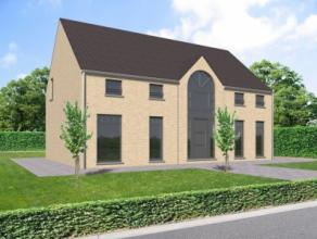 Projet de construction d'une villa 4 façades clé sur porte basse énergie qui se compose d'un hall d'entrée, beau sé