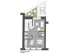 Arlon centre , splendide duplex neuf de 70 m² composé comme suit: hall d'entrée, vestiaire, wc séparé , séjour