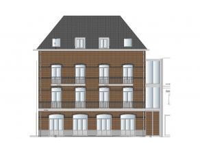 Nieuwbouwproject bestaande uit 5 appartementen en 1 commerciële ruimte. Parkeerplaatsen achteraan het gebouw. <br /> Gelijkvloerse verdieping: H