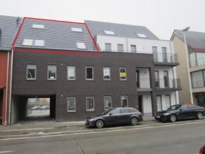 Knap duplexappartement met twee slaapkamers Appartement op de tweede verdieping en ingedeeld als volgt: Inkomhal met toilet. Woonkamer met trap naar b