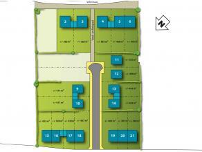 Lot 13 is voor een halfopen bebouwing op een grondopp. van 442 m². Je hebt je huis al helemaal in je hoofd. Nu nog een architect om het voor je u