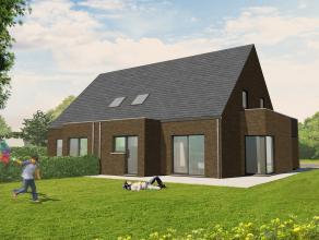 Lot 1 is een halfopen bebouwing in hedendaagse stijl op een grondopp. van 492 m² en met een totale bewoonbare oppervlakte van 127 m².<br />