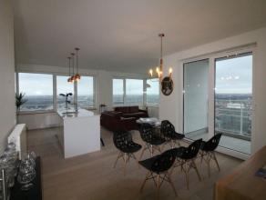 Tour Up-site - Lumineux appartement de +/-95m² meublé au 37ème étage  Hall dentrée avec WC séparé et es