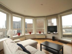 Sur le Boulevard Emile Jacqmain, superbe appartement entièrement équipé et meublé de +/- 90m² situé au 8&egrav