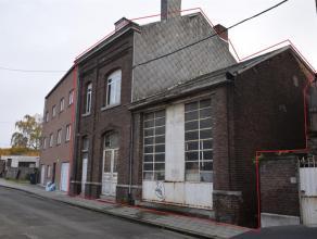 4040-HERSTAL Ensemble immobilier (200m² au sol) comprenant une maison bel étage + un vaste entrepôt avec un double accès &agr