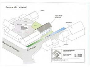 Réf. 654.Terrain à bâtir avec permis d'urbanisme délivré pour un projet de construction de 3 habitations jumel&eacut