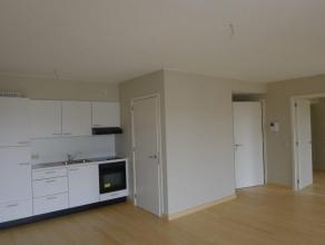 Gezellig appartement op de tweede verdieping in het centrum van Wachtebeke. Bestaat uit een inkom met vestiaire, leefruimte met open keuken, apart toi