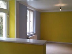Appartement (2 chambres, 1 salle de bains) avec cour et jardinet situé au centre-ville de Bouillon. Composition du bien (1er étage): Hal