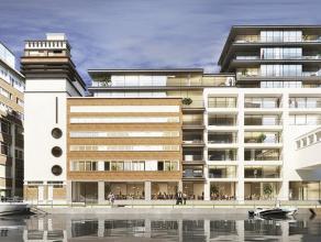Tussen kanaal en centrum Dit wooncomplex voor gemengd gebruik geniet van een uitzonderlijke ligging met zicht op het kanaal. Het omvat residentië