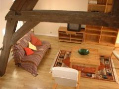 Duplex meublé au 4ème étage d'une maison avec ascenseur, au Sablon, dans petite rue, rénové en 2006, cuisine am&eac