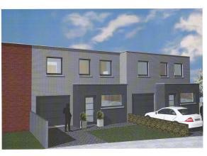 Moderne nieuwbouwwoning met 4 slaapkamers, tuin en garage. Gelijkvloers: inkomhal, ruime leefruimte met open keuken, berging/wasplaats, afz. toilet, g