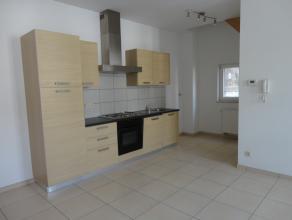 Situé à deux pas du centre Binchois, bel appartement 2 chambres de type duplex (1er étage). Celui-ci comprend un hall d'entr&eacu