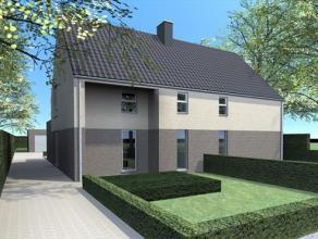 2 eigentijdse nieuw te bouwen halfopen bebouwingen op twee mooie percelen van respectievelijk 563 m² en 646 m². De achtertuin grenst aan een