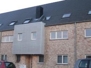 Gentsesteenweg 333: Appartement duplex deux ou trois chambres de 110m² avec une terrasse de 18m², un garag et une cave. EPC: 105,31 kwh