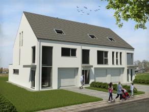 2 woningen van het type HOB en één GBB.Elke woning telt 4 of 5 ruime slaapkamers en heeft een inpandige garage en een tuin met West ori&