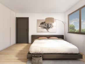 Nieuwbouw halfopen bebouwing met garage, tuin en terras. Bewoonbare opp. van 233m², met 3 slaapkamers, badkamer, 2 dressings, berging, leefruimte