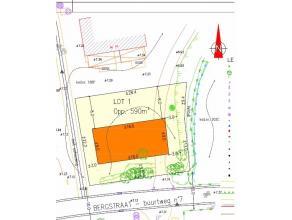 Perceel bouwgrond geschikt voor een open bebouwing met een oppervlakte van 590 m². Gelegen in het idyllische rustige Vinderhoute. Bouwvoorschrift