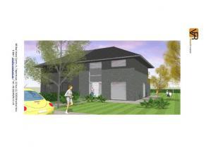 Nieuw te bouwen, betaalbare lage energie half open bebouwing. Volledig traditioneel en afgewerkt met keuken, badkamer, ruime living, inkom, wc, bergin