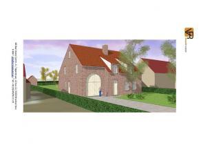 Open bebouwing van 8 meter op 9 meter. Een bouwlaag met een dak van 45°. Deze nieuw te bouwen woning wordt een open lage energiewoning. In de gepl