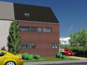 Nieuw te bouwen, betaalbare lage energie halfopen bebouwing. Volledig traditioneel en afgewerkt met keuken, badkamer, ruime living, inkom, wc, berging