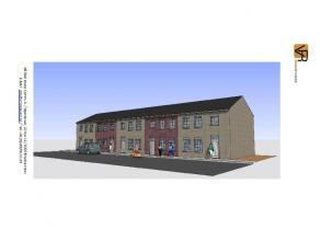 Nieuw te bouwen, betaalbare lage energie Bel-Etage gesloten bebouwing. Volledig traditioneel en afgewerkt met keuken, badkamer, ruime living, inkom, w