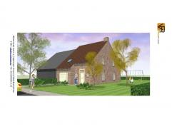 Nieuw te bouwen betaalbare half open bebouwing, volledig traditioneel en afgewerkt met keuken, badkamer, ruime living, inkom, wc, berging, een zonnebo