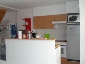 CEE // SCHAERBEEK // DUPLEX MEUBLE (+-70m2), il compose d'un hall d'entrée, d'une cuisine super équipée, un séjour, une to