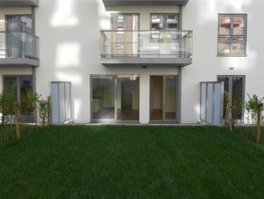 Prox. Basilique, quartier résidentiel. Très beau studio NEUF (± 40 m²) avec jardin et grandre terrasse. Living / chambre &pl