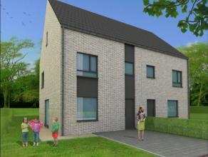 "KONTICH - adres op aanvraag:  Mooie nieuwbouwwoningen ""op maat""! Perceel nr: 3: Halfopen bebouwing op 370 m2 - straatbreedte +/- 11m  &n"