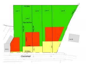 Een perceel bouwgrond voor het bouwen van een ééngezinswoning in halfopen bebouwing. Het betreft Lot 2. Perceelsoppervlakte : 5a22ca. Pe
