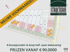 LOT 8: Bouwgrond te koop gelegen op een rustige locatie te Opwijk nabij centrum. Perceel bouwgrond met een breedte van 10m aan de straatzijde en een d