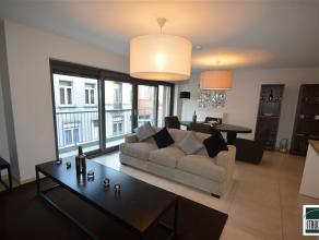 """Projet """"Vue sur Bonheur"""" à Laeken. Appartement au 1e étage avec 2 chambres. Division : living avec cuisine américaine, hall de nu"""