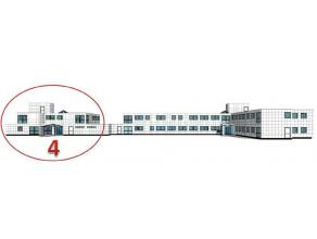 Office te huur Kleine kantoorunits te huur op de grens België-Nederland te Hoogstraten, deelgemeente Meer, langs de E19.Dit kantoorgebouw is gele