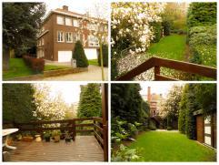 Prachtige HOB gelegen in een groene omgeving op 5 min van het Stad.  Het gelijkvloers is voorzien van een betegelde oprit, een inpandige garage, een