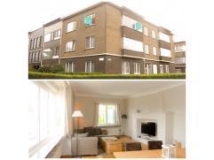 Het appartement (100m²) is gelegen op de 2de verdieping en heeft een prachtig zicht over het Monikkenplein. De ruime inkomhal zorgt meteen voor e