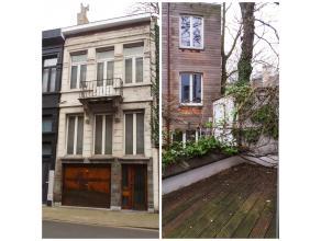 Woning met garage, 4 slaapkamers en terras  Op het gelijkvloers is er enerzijds een garage met manuele poort (3,04x8,02m) op een betonnen vloer en a