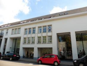 Zeer ruim duplex-appartement (195m²) met drie slaapkamers op de eerste verdieping gelegen in het centrum van Herentals.Indeling: Inkomhal met tra