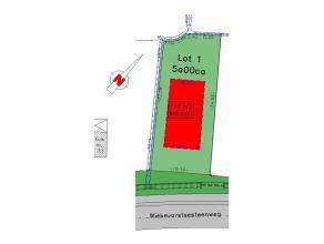 lot1: bouwgrond open bebouwing met een bebouwbare opp van 8,97m x 17m diep (ook de verdieping). Garage mag mits akkoord lot 2 in de zijtuinstrook + 12