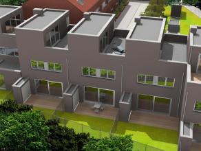 Nieuwbouwwoning in hedendaagse stijl, omvattende : een inkomhal, berging, gastentoilet, vestiaireruimte, keuken met en leefruimte met aanpalend terras