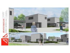 WINDDICHTE nieuw te bouwen open bebouwing ( type 1 ) in een nieuwe verkaveling met 3 ruime slaapkamers, dressing,bureel en zuidgerichte tuin. ( woning