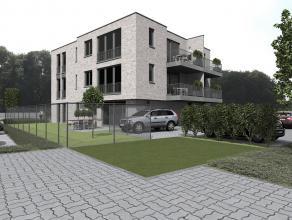 Nieuw te bouwen gelijkvloers appartement ( rechts ) met o.a 2 slaapkamers, terras, tuintje, lift, kelderberging en parkeerplaats. Afwerking naar keuze