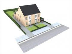 Nieuwe woningen op 500 m van E34 en centrum Oelegem, afwerking naar keuze, 3 slaapkamers, tuin zuidersgericht.
