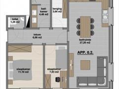Zeer mooi afgewerkt nieuwbouwappartement gelegen op het gelijkvloers, gesitueerd in de dorpskern van Meer. Dit appartement bestaat uit een woonkamer,