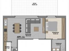 Zeer mooi afgewerkt nieuwbouwappartement gelegen op de eerste verdieping (met lift!), gesitueerd in de dorpskern van Meer. Dit appartement bestaat uit