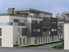 """Appartement op de eerste verdieping van het nieuwbouwproject """"Van Gillekens"""" te Vorselaar. Indeling van het appartement: inkomhall, apart toilet, ruim"""